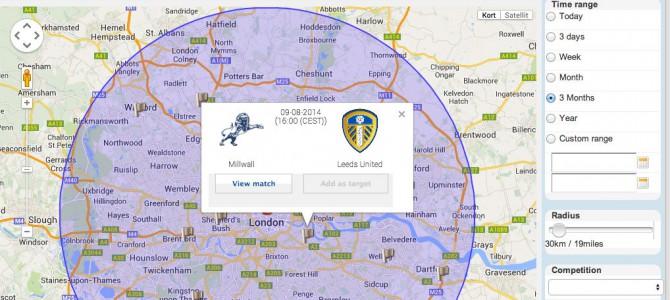 Find nemt (live) fodboldkampe på din ferie